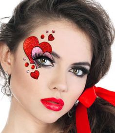 valentines day facepaint - Google Search