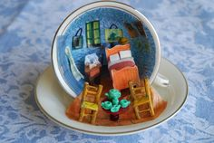 Teacup+Miniature+Artwork++Vincent+VanGogh+Cup+by+TinyT42+on+Etsy,+$75.00