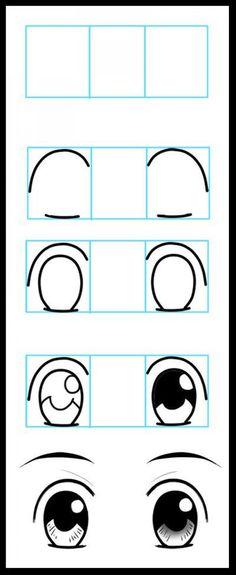 stappenplan ogen tekenen
