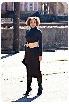 Vogue 8939 Turtleneck Midi Dress - Erica B - DIY Style!