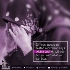 """Allah will not burden anyone of us beyond our capacity. So anything you are going through right now, know that Allah has given you the strength to come out stronger! """"Allah does not burden a soul beyond that it can bear…"""" (Qur'an, 2:286) #islamicOnlineUni"""