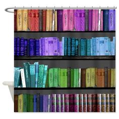 This one will make you feel like you're peeing in a library ($49.95). | 17 Shower Curtains That Might Actually Make You Want To Shower