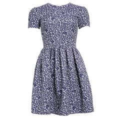 Matthew Williamson Leopard Strawberry Mini Dress (5 985 ZAR) ❤ liked on Polyvore featuring dresses, vestidos, navy, boho dress, short party dresses, mini dress, navy blue cocktail dress and navy dress
