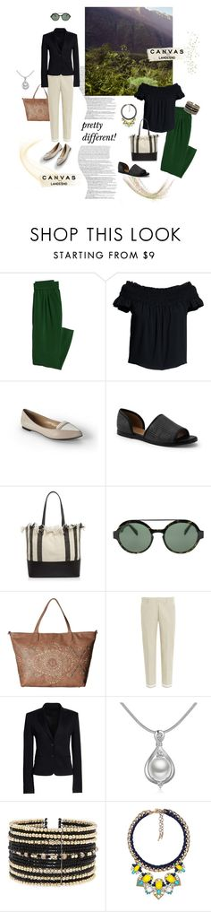 """""""Paint Your Look With Canvas by Lands' End: Contest Entry_PRETTY DIFFERENT"""" by happiestime ❤ liked on Polyvore featuring Grace, Lands' End, Canvas by Lands' End, Loeffler Randall, Italia Independent, Gabriella Rocha, dVb Victoria Beckham, Eloquii and Chloe + Isabel"""