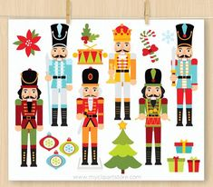 Nutcracker Christmas Decorations, Nutcracker Ornaments, Etsy Christmas, Christmas Art, Christmas Ornaments, Xmas, Stationery Set, Personalized Stationery, Nutcracker Soldier