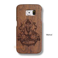 Ganesh Vinayaka Galaxy S6 Case - Galaxy S6 Solid Total Wood Case - SDTRD0150