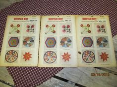 Vintage Mountain Mist Creative Quilting Pattern - You choose -  Pomegranate - Dresden Plate - or Daddy Hex by EvenTheKitchenSinkOH on Etsy