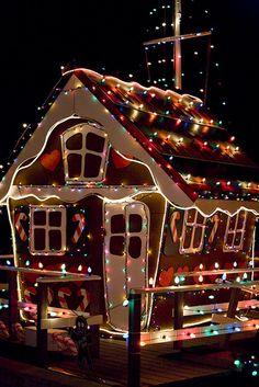 Christmas in Balboa Island, Newport Beach, California