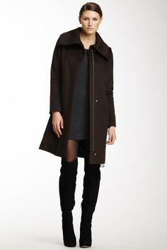 Collared Wool Blend Coat on HauteLook