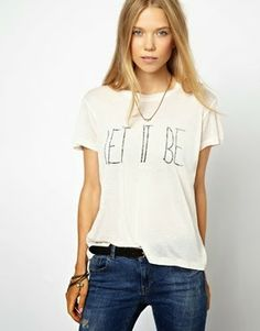 """Graphic Tees """"Let It Be"""""""
