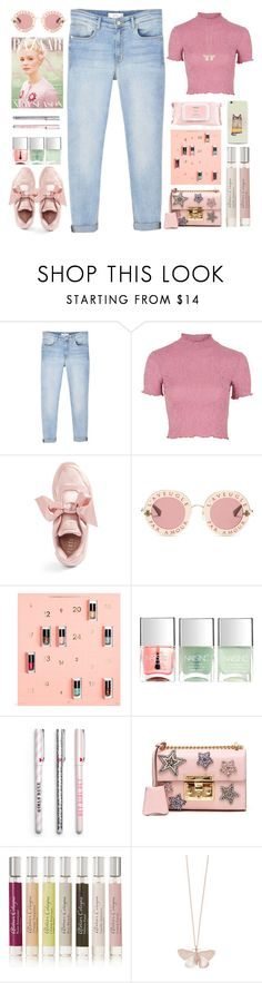 """""""Amour"""" by doga1 ❤ liked on Polyvore featuring MANGO, Topshop, Puma, Gucci, Nails Inc., Atelier Cologne, Transparente, Alex Monroe and Mamonde"""