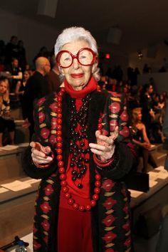 """Only one trip! Might as well live it up"" Iris Apfel --- check out the video of her interview"