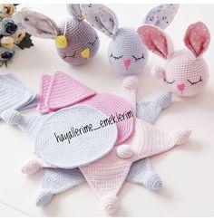 Easy Crochet Patterns, Amigurumi, Baby lovey toys by AVokhminaPatterns Crochet Lovey, Crochet Baby Toys, Crochet Patterns Amigurumi, Crochet Gifts, Baby Knitting Patterns, Knit Crochet, Felt Dolls, Diy Doll, Stuffed Toys Patterns