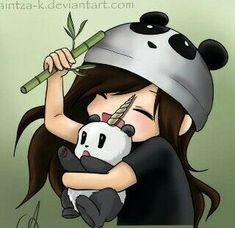 New drawing cartoon panda anime 24 ideas Panda Kawaii, Kawaii Chibi, Anime Kawaii, Panda Anime Girl, Cartoon Panda, Cute Animal Drawings Kawaii, Cartoon Drawings, Cute Drawings, Panda Wallpapers