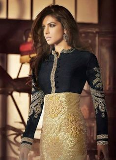 http://www.sareebuzz.in/bollywood-salwar-kameez/priyanka-chopra-net-and-silk-black-and-gold-sequins-work-churidar-suit-3571  Priyanka Chopra Net And Silk Black And Gold Sequins Work Churidar Suit  Celebrity : Priyanka Chopra  Occasion : Party Ceremonial  Color : Gold Black  Fabric : Silk Net  Work : Sequins Zari Item Code: : 3571   For Inquiry Or Any Query Related To Product, Contact :- +91 9974 111 22