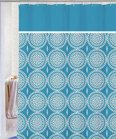 Blue Blaire Microfiber Shower Curtain By Kashi Enterprises Zulily Zulilyfinds