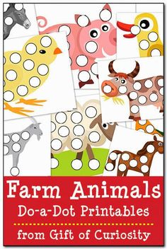 Farm Animals Free Do a Dot Printables