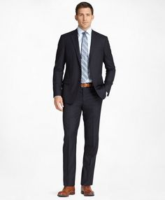 aa263663493 Fitzgerald Fit Golden Fleece® SuitNavy Brooks Brothers