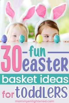 If you are looking for the best Easter basket ideas for toddlers in 2019 - we have a extensive list here! Easter is a fun holiday, and as a mom you can make it a lot of fun! Easter Baskets For Toddlers, Easter Gifts For Kids, Valentine Baskets, Easter Books, Easter Stickers, Boyfriend Crafts, Toddler Gifts, Basket Ideas, Holiday Fun