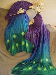 Velos de seda de ventilador aprox. 36 x 60 en pavo por Silkdancer