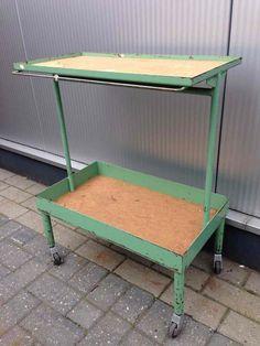 industrial working trolley New Arrivals Davidowski European Antique Pine Furniture wholesale Holland