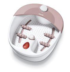 Voici le  Bain de pieds relaxant Beurer FB20 que vous trouverez au meilleur prix sur www.senup.com.     https://www.senup.com/bain-de-pieds-relaxant-beurer-fb20-3926.html     Bain de pieds relaxant Beurer FB20    3 fonctions: massage par vibrations, à bulle ou chauffage de l'eau.  Support anti-dérapant en caoutchouc.  Massage à sec possible.