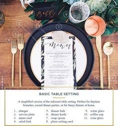 How To Set A Table For Every Ocassion - Rustic Wedding Chic