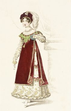 Fashion Plate (Danish Fancy Dress Worn at the Prince Regents Fête) | LACMA Collections August 1819