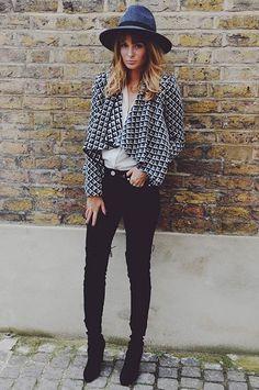 What I'd Wear : The Outfit Database(original : Millie Mackintosh ) Chapeau Cowboy, Chelsea, Millie Mackintosh, Mein Style, Winter Stil, Mode Inspiration, I Love Fashion, Autumn Winter Fashion, Casual