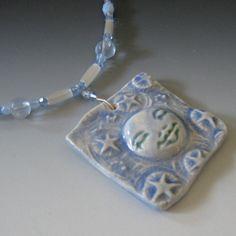 Moon Necklace -- Fantasy Jewelry With Moon Goddess Face Pendant via Etsy