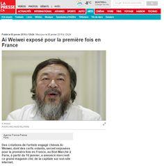 Ai Weiwei exposé pour la première fois en France - PRESSE.CA #press #pressbook #aiweiwei #art #exposition #exhibition