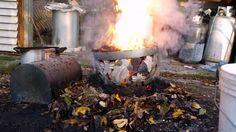 Raku firing huge ceramic goblet - La Bottega 36 Santarcangelo