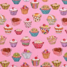 Fabric is NOT Sold by the yard, It IS Sold by the 1 QTY = 1 FQ; Fat Quarter (FQ) gives opportunity to cut larger pieces of fabric than from a regular Quarter Yard. Sewing For Kids, Kitsch, Tea Party, Cupcakes, Cute, Fabrics, Things To Sell, Tejidos, Cupcake Cakes