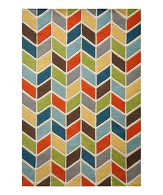 Look at this #zulilyfind! Rainbow Modern Charm Wool Rug #zulilyfinds