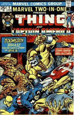Marvel Two-In-One #4. Inked by Joe Sinnott.