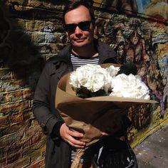 This Sunday I finally managed to get him to #columbiaroad #flowermarket + got beautiful #bouquet - what a nice bonus. ❤️ #herrahjelt #hydrangea #london #shoreditch #memyselfandirener