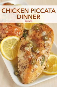 This quick and easy Chicken Piccata Dinner is so full-flavored, you'd swear you spent all day making it! Healthy Italian recipes have never been easier. Skinny Chicken Recipes, Italian Chicken Recipes, Skinny Recipes, Healthy Chicken, Baked Chicken, Clean Eating Recipes, Healthy Eating, Cooking Recipes, Healthy Food