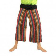 Hmong Hilltribe pantalones de abrigo de algodón