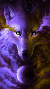 Top 5 Epic Wolf Wallpaper HD voor je Android- of iPhone-wallpapers . Wolf Love, Anime Wolf, Wolf Wallpaper, Animal Wallpaper, Cute Animal Drawings, Cute Drawings, Fantasy Wolf, Fantasy Art, Galaxy Wolf
