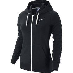 Nike Jersey Hoodie Jacket ($55) ❤ liked on Polyvore featuring activewear, activewear jackets, nike sportswear, nike y nike activewear