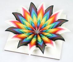 Hypnotic 3D #Paper Cut by Jen Stark #colors