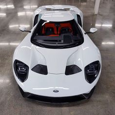 2017 Ford GT, Frozen White with Launch Control Interior.