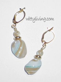 mother of pearl beaded earrings project