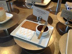 """Caitlin Freeman's S'more based on """"P_Wall (2009)"""" by Andrew Kudless at the Blue Bottle Cafe in SFMOMA. Featured in her book """"Modern Art Desserts""""."""