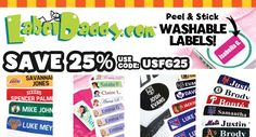 Save 25% on Label Daddy name labels for Back to School -Use code USFG25 Best deal! http://www.USFG25.labeldaddy.com/ .@usfg @labeldaddy