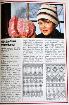 Husmorsskolan: Symöte - Hättor från förr! Knitting For Kids, Baby Knitting, Knitting Patterns, Crochet Patterns, Knit Crochet, Crochet Hats, Baby Barn, Crochet Clothes, Mittens