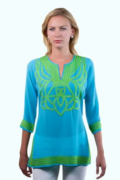 Gretchen Scott Poly Georgette Silk Tunic. Available at The Lucky Knot. Old Town Alecandria, VA.