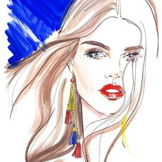 #fashion #illustration #fashionillustration #girl #fashionart #fashionillustrator #artist #lenaker #style #accessories