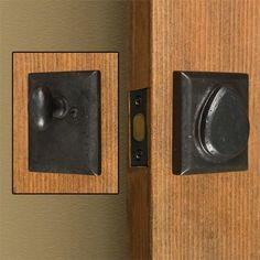 Solid+Bronze+Rectangular+Deadbolt+Lock+-+Dark+Bronze