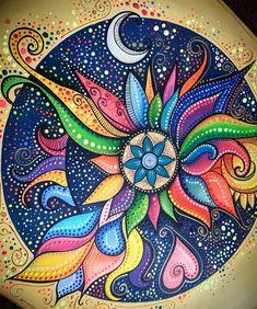 Mandala Drawing, Mandala Painting, Dot Art Painting, Painting & Drawing, Mandala Rocks, Acrylic Art, Doodle Art, Art Lessons, Painted Rocks